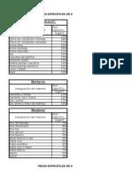 2607520 Pesos Especificos de Materiales de Construccion