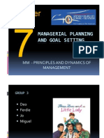Chapter 7 Managerial Planing and Goal Setting