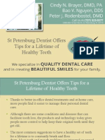 St Petersburg Dentist Offers Tips for a Lifetime of Healthy Teeth