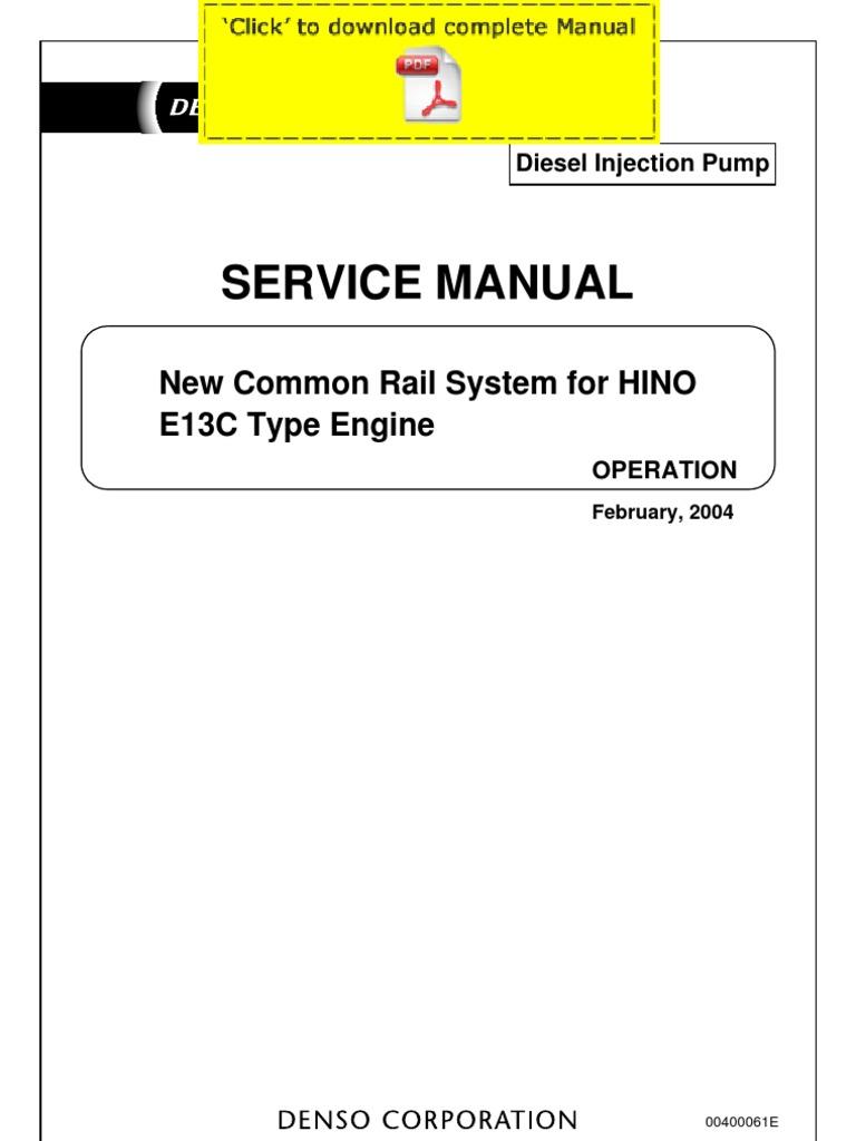 denso common rail hino ec service manual pages exhaust gas denso common rail hino e13c service manual pages exhaust gas emission standard