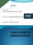 How to Write a Winning Resume