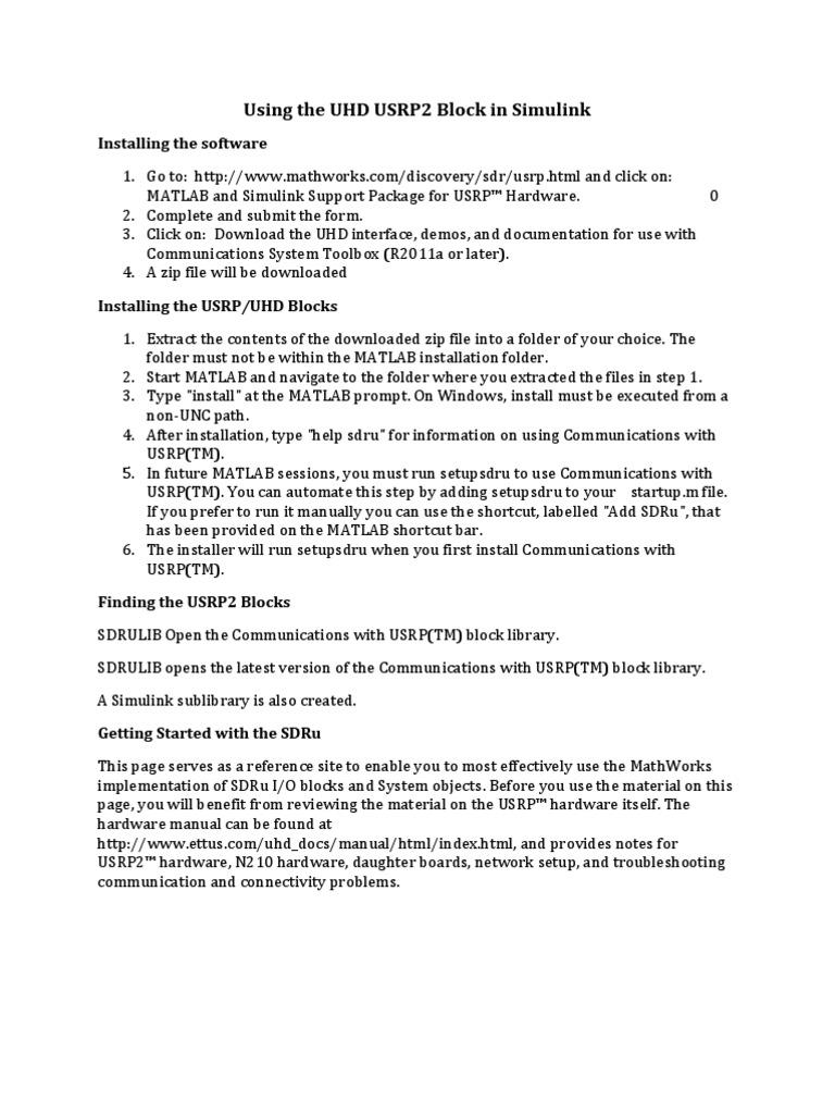 uhd_usrp_simulink_doc pdf | Ip Address | Computer Network