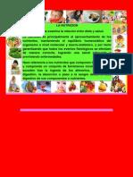 La nutrición es la ingesta de alimentos en relación con las necesidades dietéticas del organismo