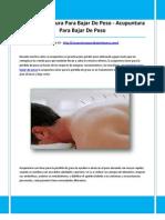 acupuntura para adelgazar en montevideo