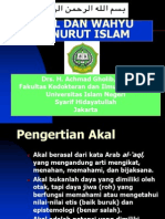 Per 4 -Akal Dan Wahyu Menurut Islam