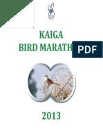 Kaiga Bird Marathon-2013
