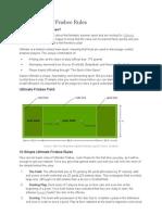 Basic Ultimate Frisbee Rules