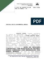 AÇÃO DE RESCISÃO CONTRATUAL COM DEVOLUÇÃO DE VALORES PAGOS CUMULADA