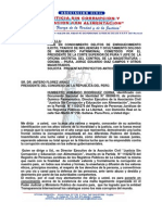 cartaalpresidentedelcongresocontramasoncorruptoymafiosoDiazCampos