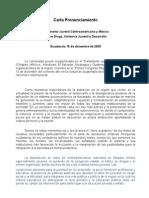 Carta Pronunciamiento 2005