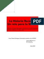 Importancia de Investigar La Historia Reciente