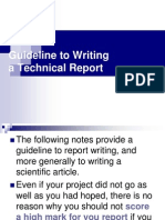 Guide to Writing a Project Report
