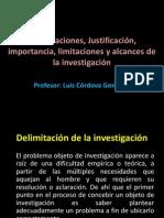 Delimitaciones de La Investigacion