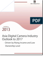 Large Pool of the First Time Buyers to Give Meteoric Growth to the Asian Digital Camera Industry