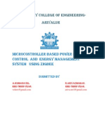 microcontroller based energy demand and power control system using zigbee