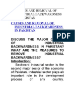 Causes and Removal of Industrial Backwardness in Pakistan