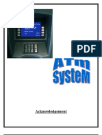 Project Report on ATM System