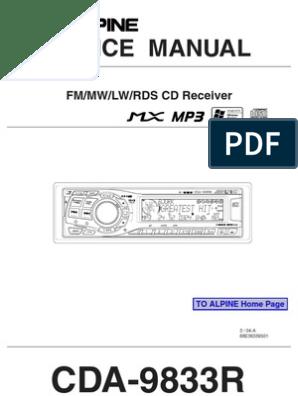 Car Audio Alpine Cda-9833r | Telecommunications Engineering ... on