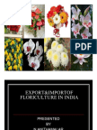 Export&Import floriculture in india