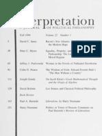 Interpretation, Vol 22-1
