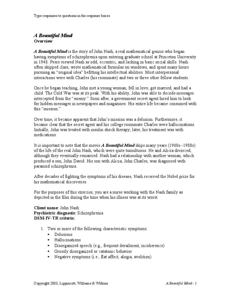 a beautiful mind critical analysis essay