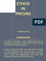 Ethics in Pricing