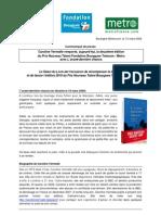 1114 - CP Prix Nouveau Talent Fondation Bouygues Telecom-Metro