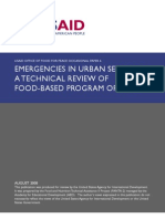 USAID Emergencies in Urban Settings