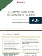 PT2011 Case-study WaterMaintenanceInPeakland