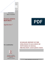 WFP 2011 Summary report of strategic evaluation of WFP Role in Social Protection and Safety Nets