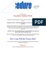 My Science Exit Project Procedure