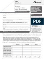 2013 Camdem Council Parking Permit Renewal Form