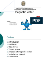 Magnetic Water for Extension