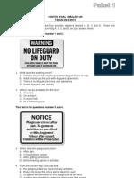 Soal Simulasi UN Paket 1