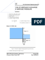 Calculation of Seepage Discharge and Seepage Pressure