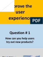 Improve the user experience