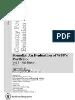 2012 Evaluation of WFP Somalia Portfolio
