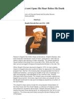 Shaykh Sharawi (RA) Bio