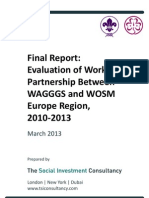 Evaluation of Work in Partnership Between WAGGGS and WOSM Europe Region, 2010-2013