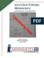 Minnesota's Slip Toward Mediocrity