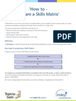 6 Prepare a Skills Matrix