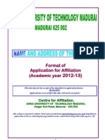 Affiliation Format Madurai Final-2012-13