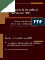 Perlas del Bachillerato 2004