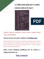 Projektowanie i Obliczanie Polaczen i Wezlow Konstrukcji Stalowych. Tom 1