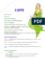 PROIECT DIDACTIC MATEMATICA CLASA I- INSPECTIE