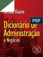 dicionário de administração e negócios - geraldo duarte