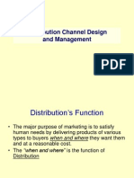 Distribution Channel and Design Management