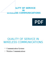 Quality of Service in Wireless Communication