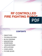 RF Controlled Fire Fighting Robot