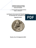 1er Simposio Internacional de Filosofia Helenistica. Rosario 2013. Circular 2